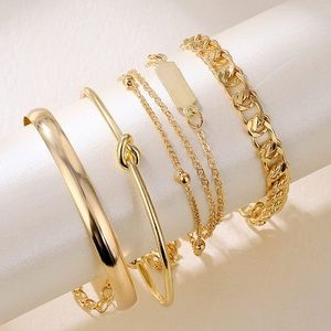 Layered Gold Bracelets